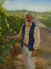 Portrait of Alex Hogstrom, Vineyard Manager, Alden Vineyards