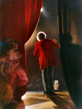 oil painting by Virgil Elliott, In the Wings, Fred and Sherry Ross collection